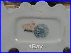 Pair 1860s KPM Royal Porcelain Gold & Blue Antique Salt Cellars