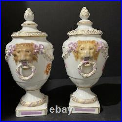 Pair Of KPM Porcelain Urns 5x 9