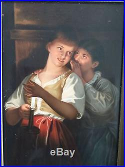 Pair Paintings on porcelain Georg Hom (1838-1911) kpm