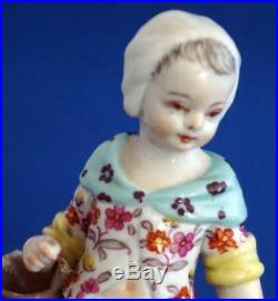 Pair of Antique Berlin KPM Continental Porcelain Figurines Sceptre Mark