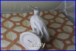 Pair of Hand Crafted Snipes, Left & Right, White Glazed Porcelain by KPM