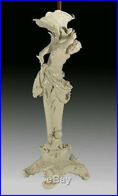 Porcelain Candelabrum Lamp, KPM, Berlin, 19th Century