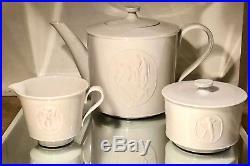 Rare 1930's KPM ROYAL Berlin, ARCADIA Porcelain Teapot Sugar & Creamer Tea Set