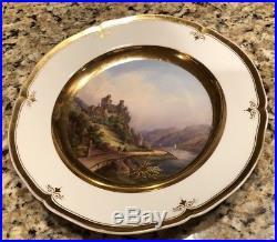Rare Antique 19thC KPM Berlin Porcelain Hand Painted Cabinet Plate. Rhienstein