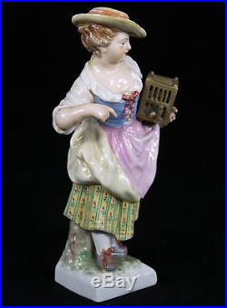 Rare Antique Kpm Berlin Germany Porcelain Figure Of A Young Lady