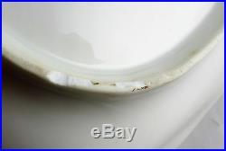 Rare Antique Paris Porcelain Figural Shell Dish Hunting Scene