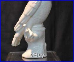 Rare KPM Berlin 19th C. Porcelain White Parrot Figurine Porzellan German Antique