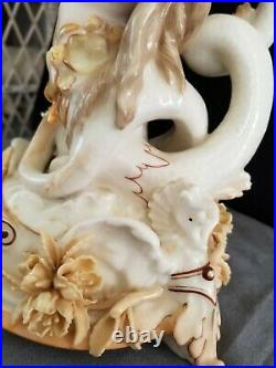 Rare KPM Meissen Porcelain Mermaid and Putti Group -Crossed swords 11 1/2 Inch