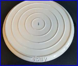 Rare Pattern Antique Kpm Berlin Porcelain Circular Tray Onion Design Not Meissen