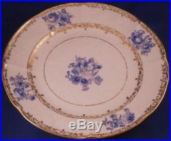 Rare Set of 7 Antique 19thC KPM Berlin Floral Porcelain Plate s Porzellan Teller