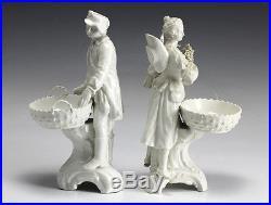 Royal Berlin Pair Porcelain Blanc de Chine Glazed Figurines 19th century