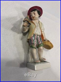 Set Of 2 KPM Berlin Porcelain Zodiac Cancer And Virgo Figurines