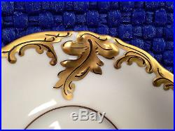 Set of 6 Antique/Vintage Gold Embossed Demi-Tasse Cups withSaucers by KPM Poland