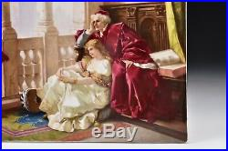 Signed KPM Porcelain Plaque with Scene from Shakespeare's Othello 19th Century