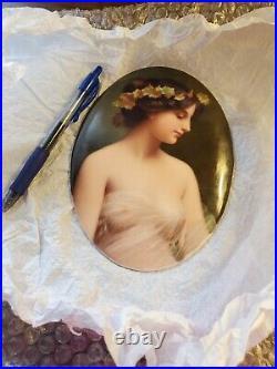 Signed KPM Portrait On Porcelain Muse De Poete Antique