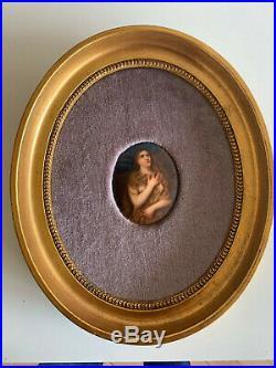 Signed kpm plaque Berlin porcelain nude woman septre mark