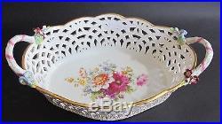 Superb Signed KPM Reticulated 12 Porcelain Bowl MINT c. 1900 German Porcelain