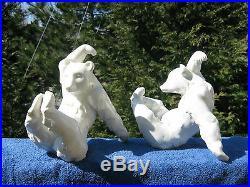 VINTAGE PAIR KPM ACROBATIC BEARS 7 1/4 TALL, Porcelain. Germany
