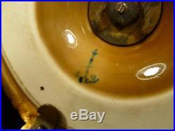 Victorian Brass & Kpm Signed Porcelain Knife Holder Circa 1875