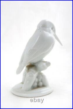Vintage 1950s Original Germany Porcelain figurine Bird Kingfisher KPM 10 cm