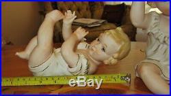 Vintage KPM Bisque Baby Pair Piano Baby