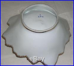 Vintage KPM, Kristef Porcelain Manufactory 9 1/4 Leaf Dish Germany