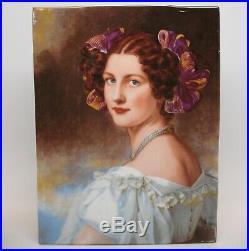 Vintage RPM Kpm Germany Fine Porcelain Portrait Plaque Tile Of Auguste Hilber