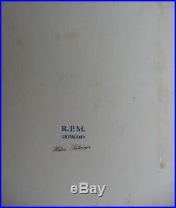 Vintage RPM Kpm Germany Fine Porcelain Portrait Plaque Tile Of Helene Sedlmayer