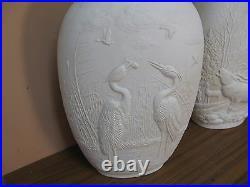 Vintage Set @ 2 Royal KPM Bavaria PORZELLAN Vase Porcelain 12 T 9 W 3 D